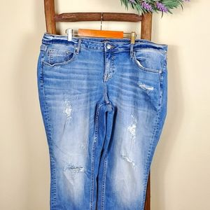 Vigoss Distressed Jagger Skinny Jeans sz 18 Short